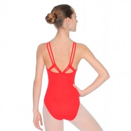 Leotard with straps