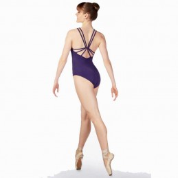 Slim double strap leotard