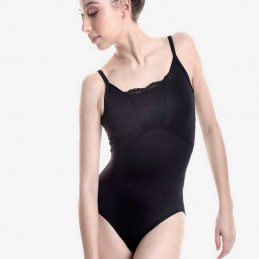 Leotard with thin straps