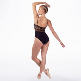 Thin strap leotard